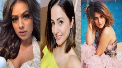 Photo of Jennifer Winget, Hina Khan, and Nia Sharma show how sneakers are to be stylized.