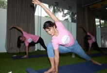 Photo of On World Yoga Day, Jacqueline Fernandez's YOLO Foundation organizes a Yoga session for kids